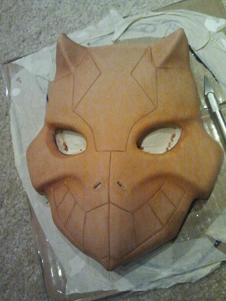 Cheshire Mask Progress 2 by MaskedMenoly