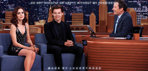 Crackship - Lily Collins and Harry Styles by MayTradOff