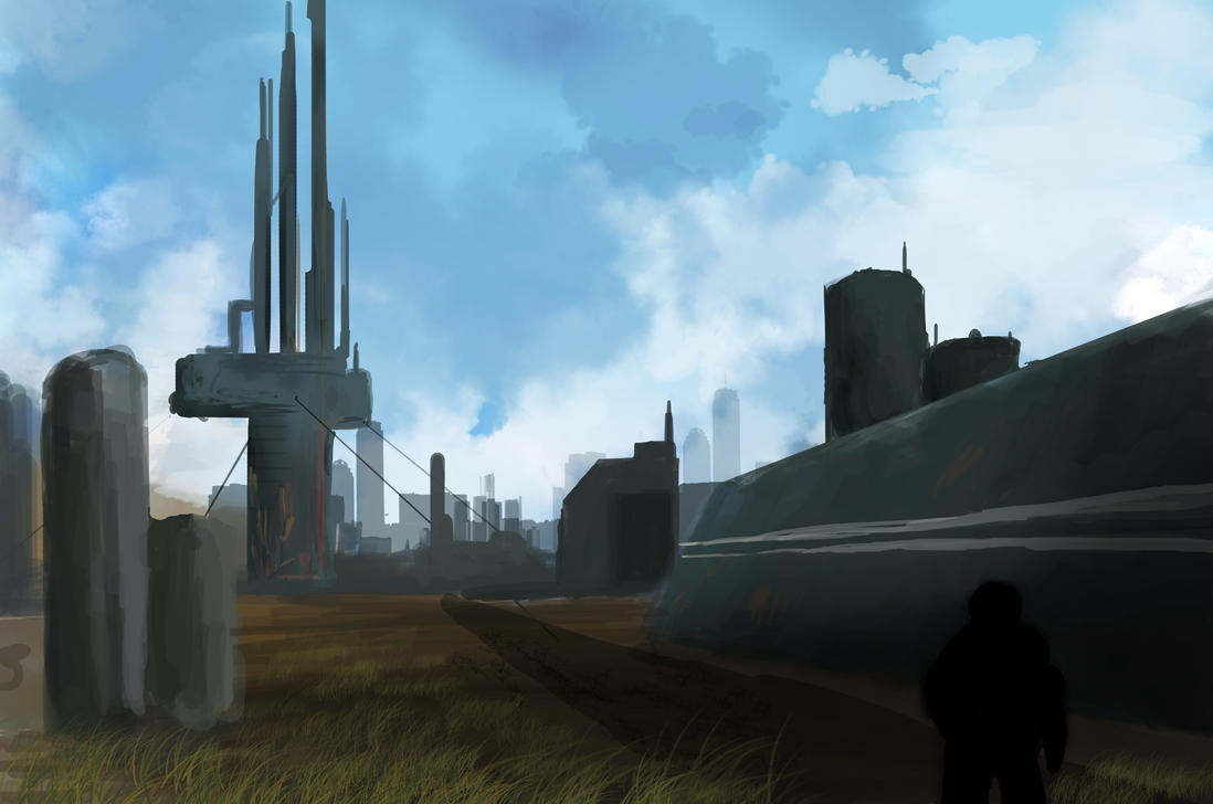 speedpaint industrial city by - photo #9