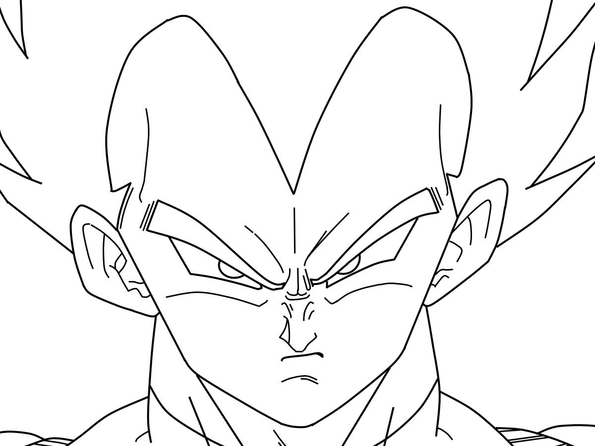 Dorable Dragon Ball Z Vegeta Para Colorear Regalo - Dibujos Para ...