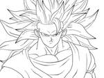 SJJ3 Goku Closeup: lineart