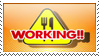 WORKING stamp by carapau