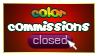 Color Commissions Closed stamp by carapau