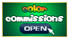 Color Commissions Open stamp by carapau