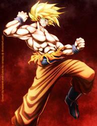 SSJ Goku, collab with luislarm