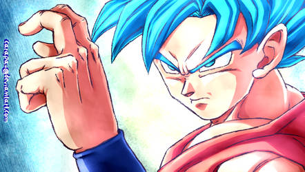 Goku SSJ Blue screenshot redraw