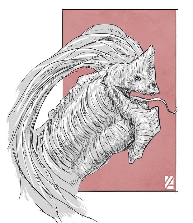 Imperial Dragon Sketch by FluidStudios