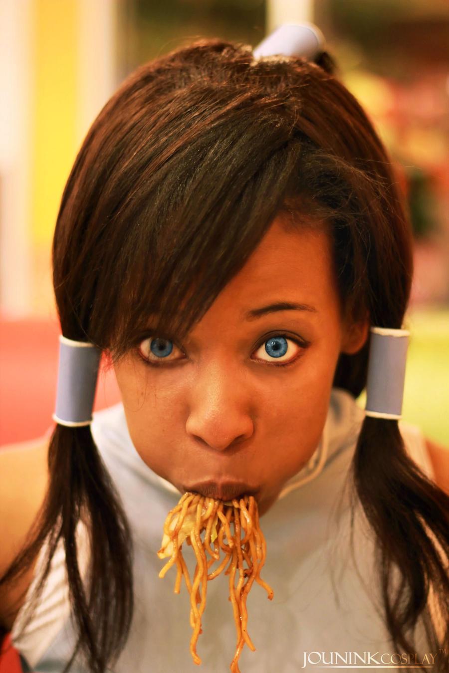 Korra: Noodle Glutton by JouninK