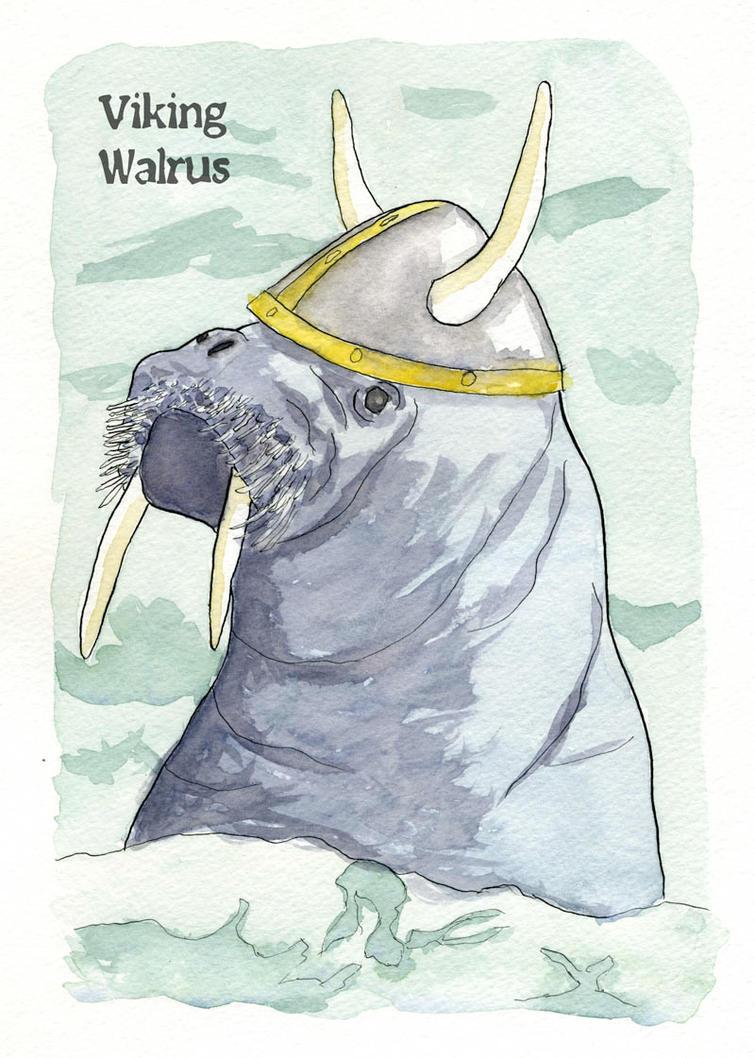 Viking Walrus by gentsai