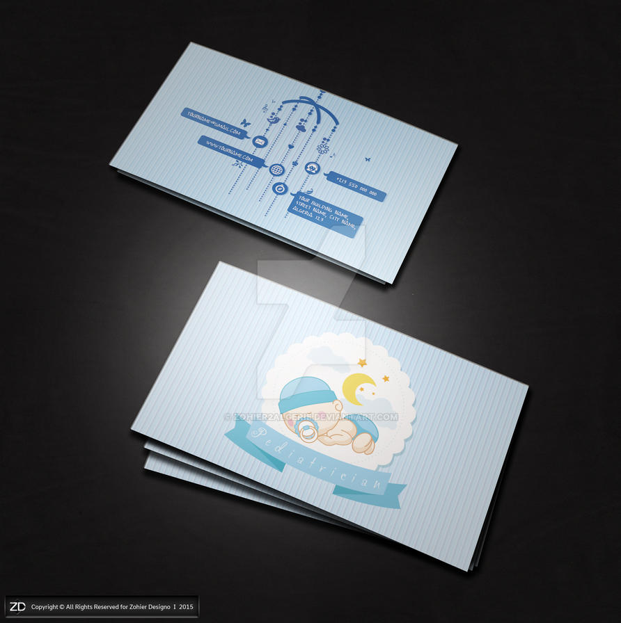 Business Card for Pediatrician Doctor by zohier2algerie on DeviantArt