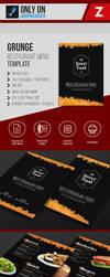 Grunge Restaurant menu Template by zohier2algerie