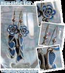 Romantic Sea - Rose Earrings