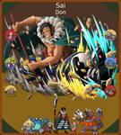 Sai, Pokemon x One Piece Team by LuxrayHeart