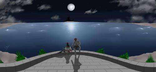 Full moon over the Ashen Lake