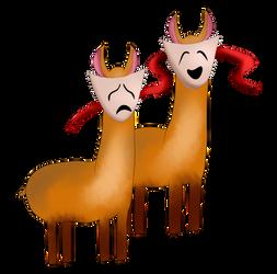 Llama Badge Concept: Drama Llamas!