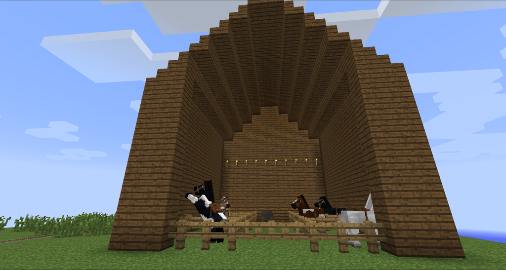 How To Build A Simple Barn In Minecraft