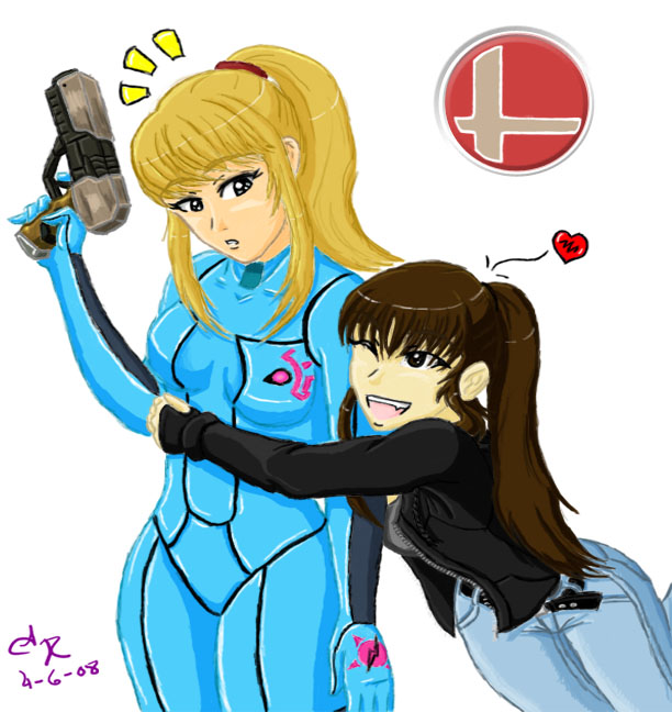 zero suit samus and link kiss - photo #11