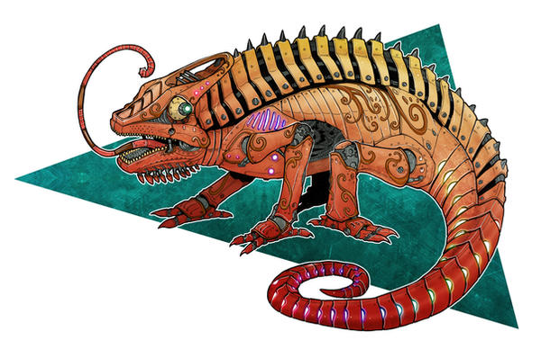Clockwork Chameleon by Deems
