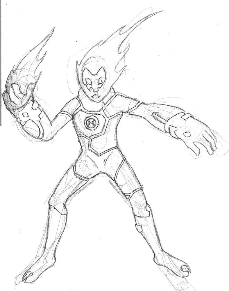 Heatblast Sketch by Deems on DeviantArt