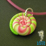 Polymer Clay Spiral Pendant