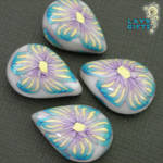 Exotic Passion Flower Cabochon by CakeToppers