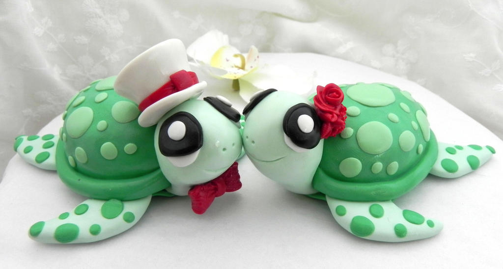 turtle wedding cake toppers and ivory turtles wedding cake topper by caketoppers 21320