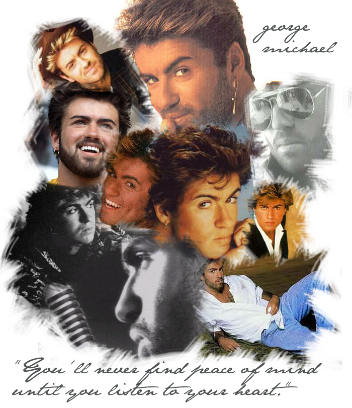 George Michael Collage by littlemebigworld