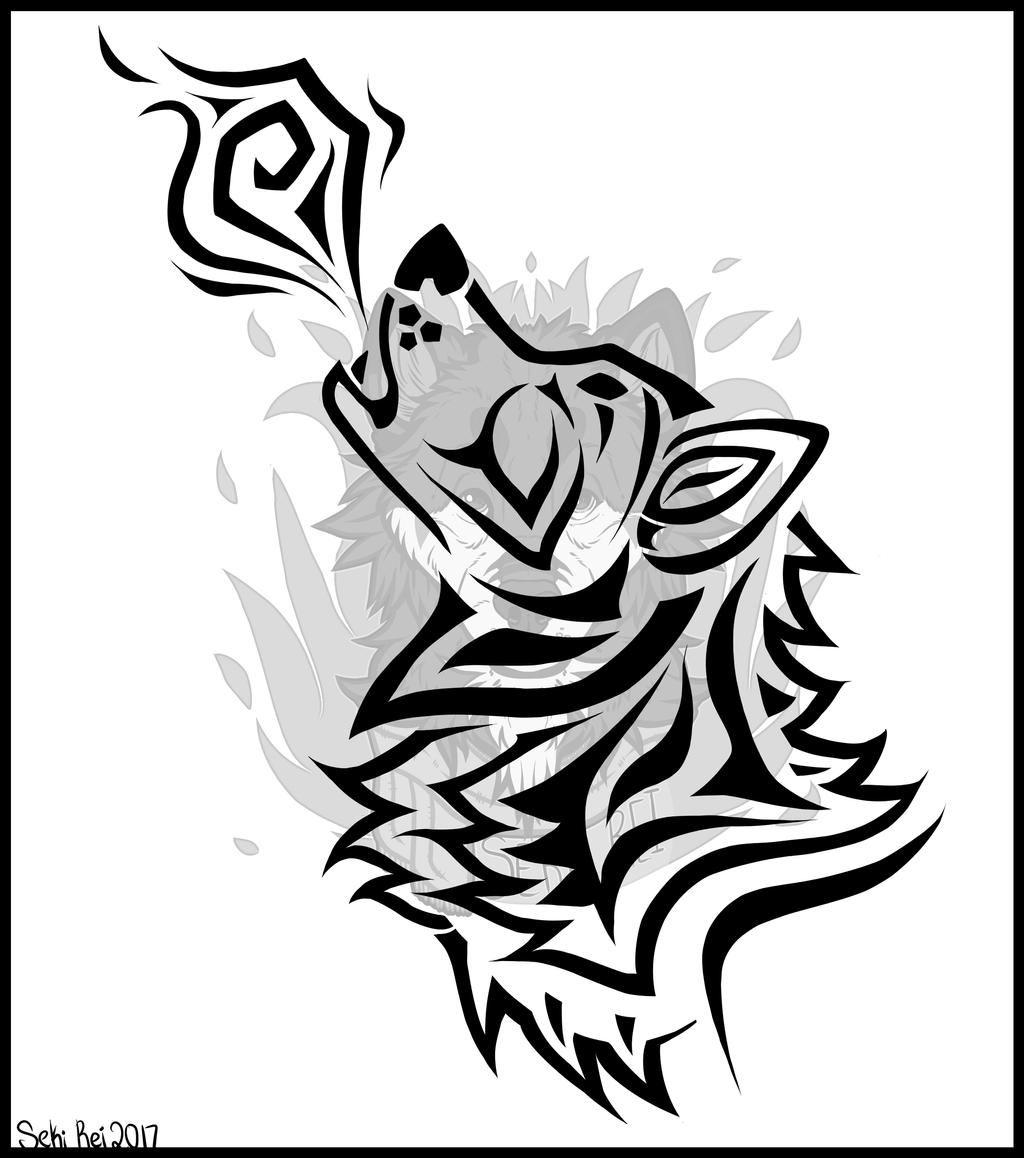 Tribal Wolf Wallpaper: Tribal Wolf Tattoo Design By Seki--rei On DeviantArt