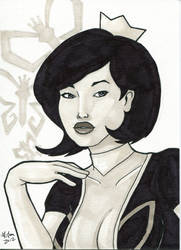 Sketch Card - Mrs. The Monarch by Indy-Lytle