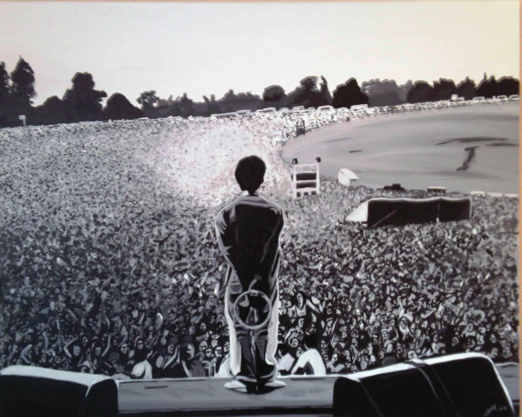 oasis knebworth by  Oasis Live Forever Wallpaper