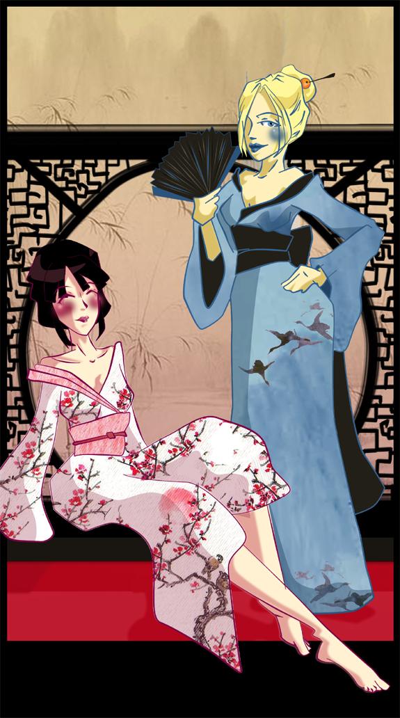 Kimono Girls by ms-cold