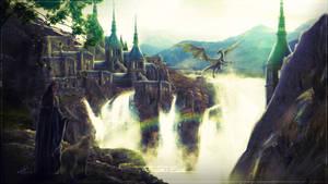 Dragon's Castle by Andromatonrecursion