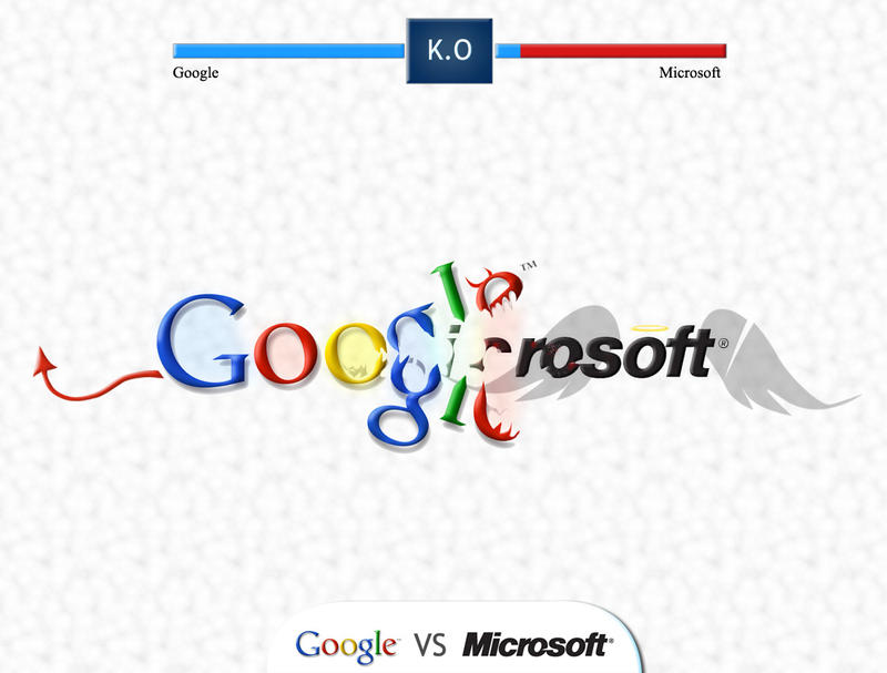 google VS microsoft by yasincrow