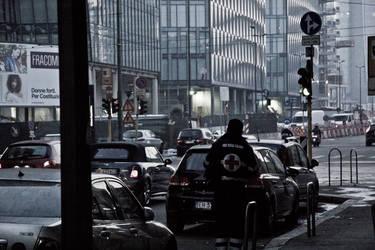 Italian Red Cross in city by yasincrow