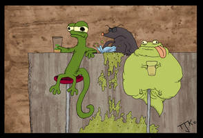 Drunken Lizards by JONTTUandTESSU