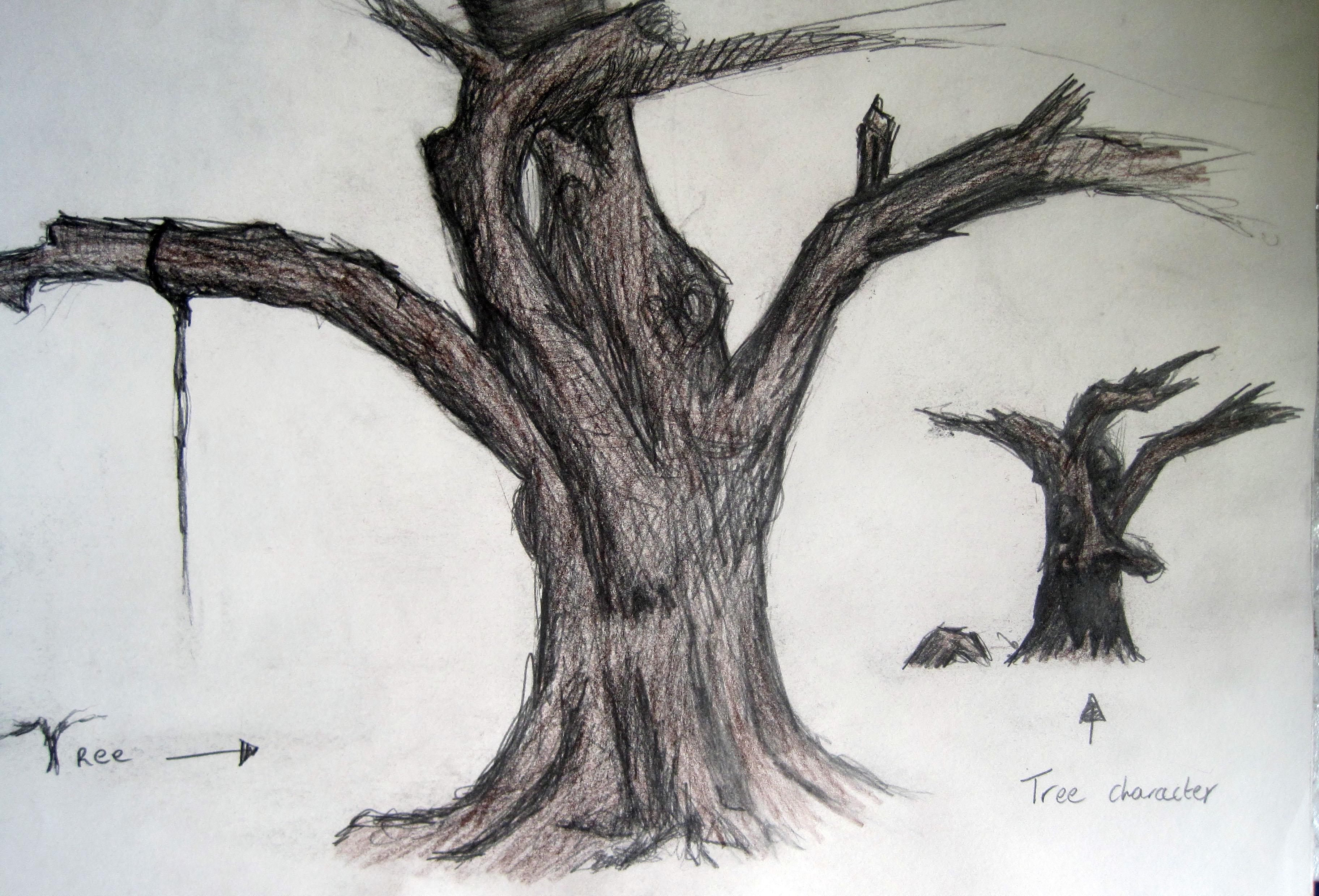 tree sketchbook drawings by fantomkilla on deviantart