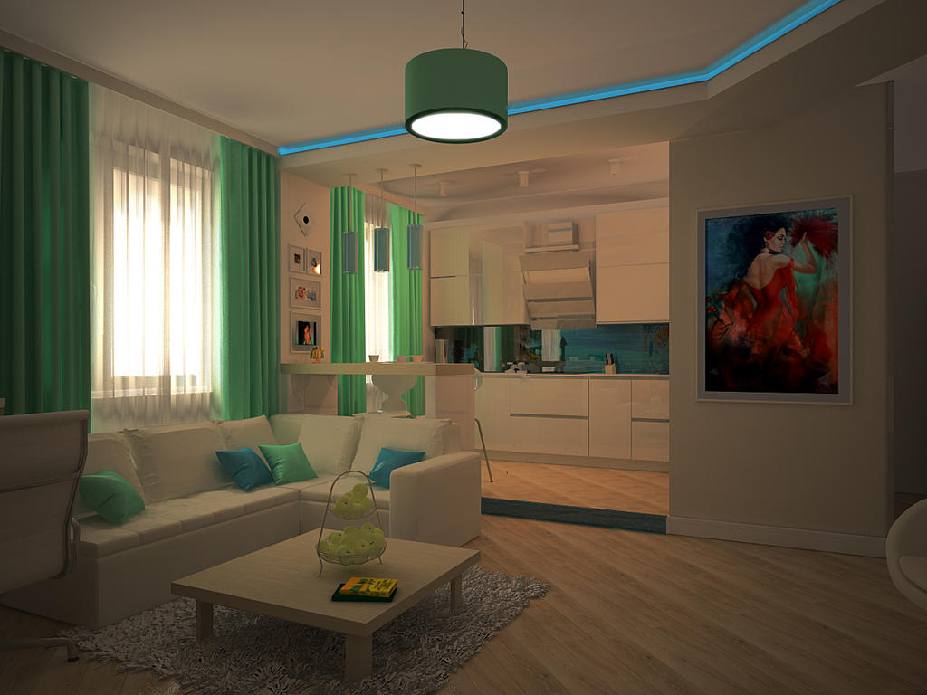 Квартира студия для девушки дизайн