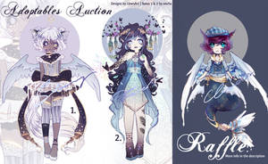 [Closed!] Adopt Raffle + Auction by LlewsArt