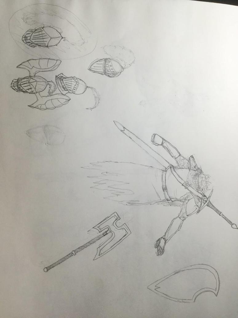 Dark Souls Character Design Process : Dark souls esk armor design process by irishxpandaz on