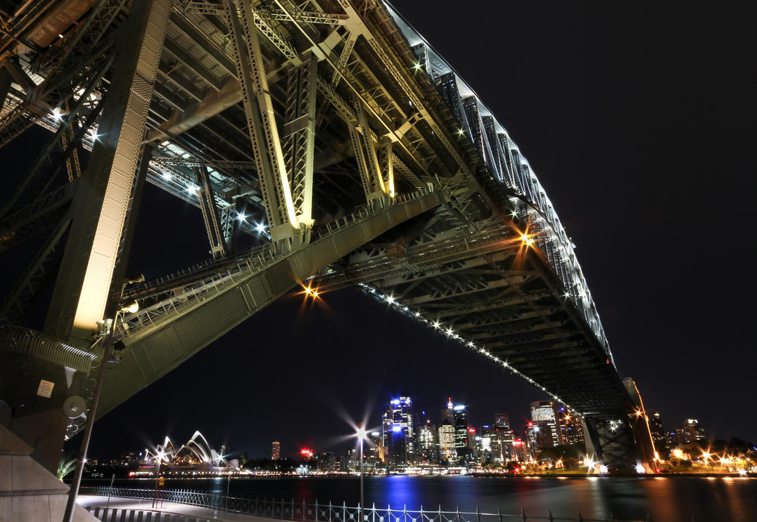 Below the Sydney Harbour Bridge by Bobby01