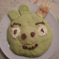 Christmas King Pig Cake 2012 by DesCroixEtDesTraits