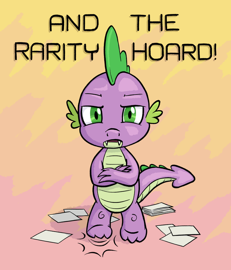 Spike Wants ALL the Rarity Pictures by Dahtamnay