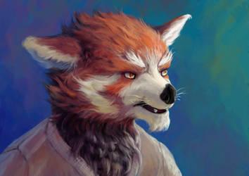 Red Panda by Dahtamnay
