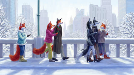 Winter Stroll by Dahtamnay