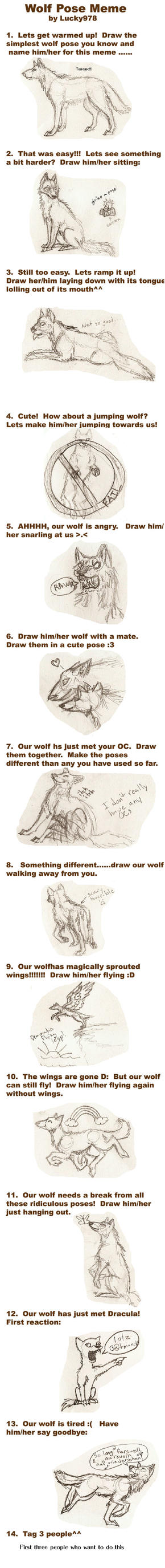 Wolf pose meme by thatwillowkid