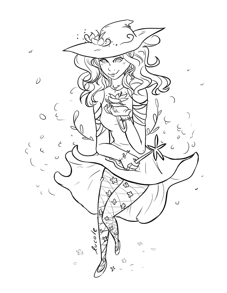 Spring Witch by Lucale-studio