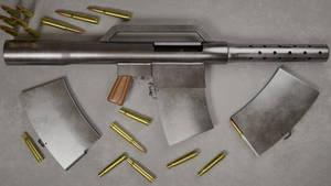 Cartel DIY open-bolt automatic .50 BMG rifle