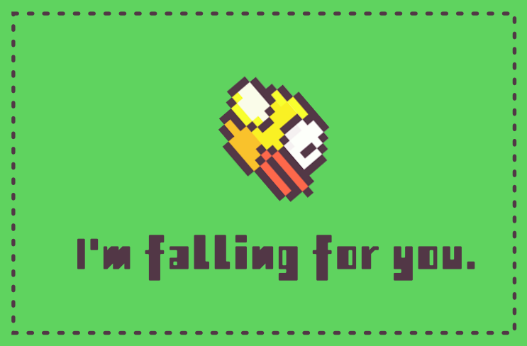 Flappy Bird Valentine by NerdyGeekyDweeb
