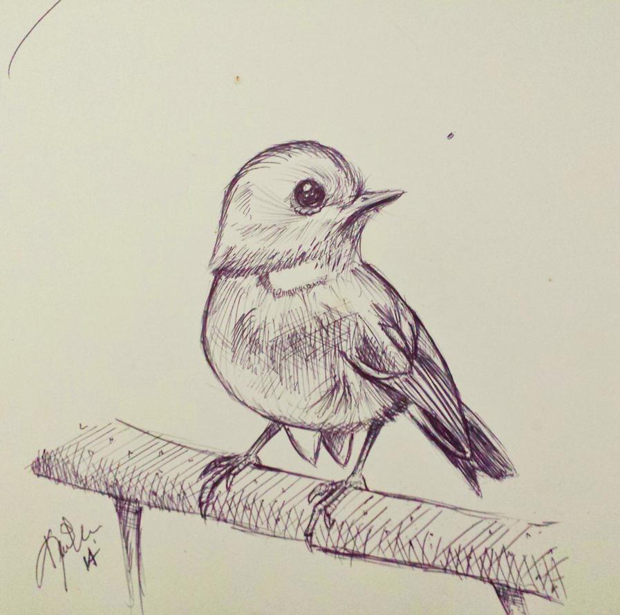 Perched bird by NerdyGeekyDweeb