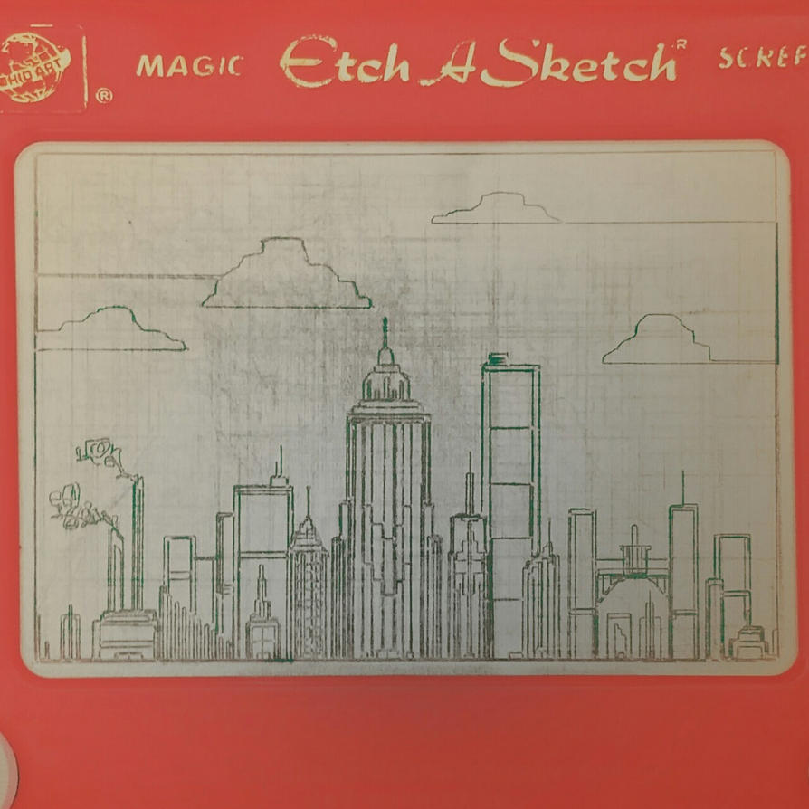 Etch A Sketch City by NerdyGeekyDweeb